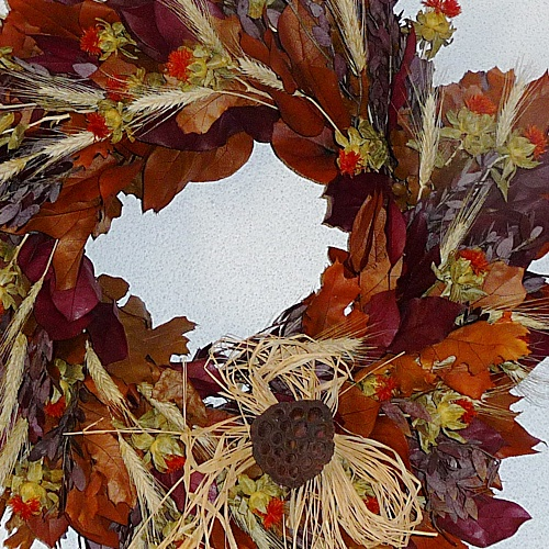 Fall Oak Nature Wreath
