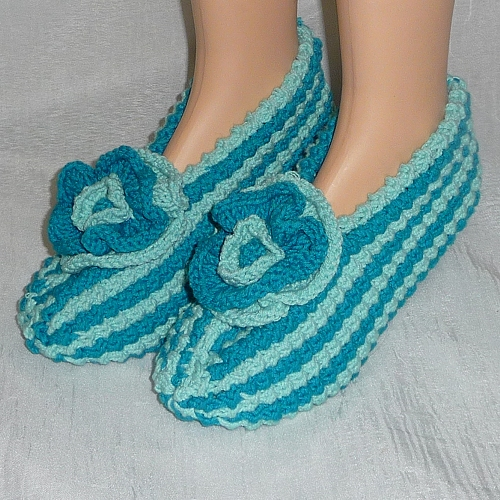 Hand Knitted Women's Slippers